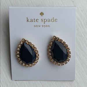Kate Spade Navy Crystal Stud Earrings